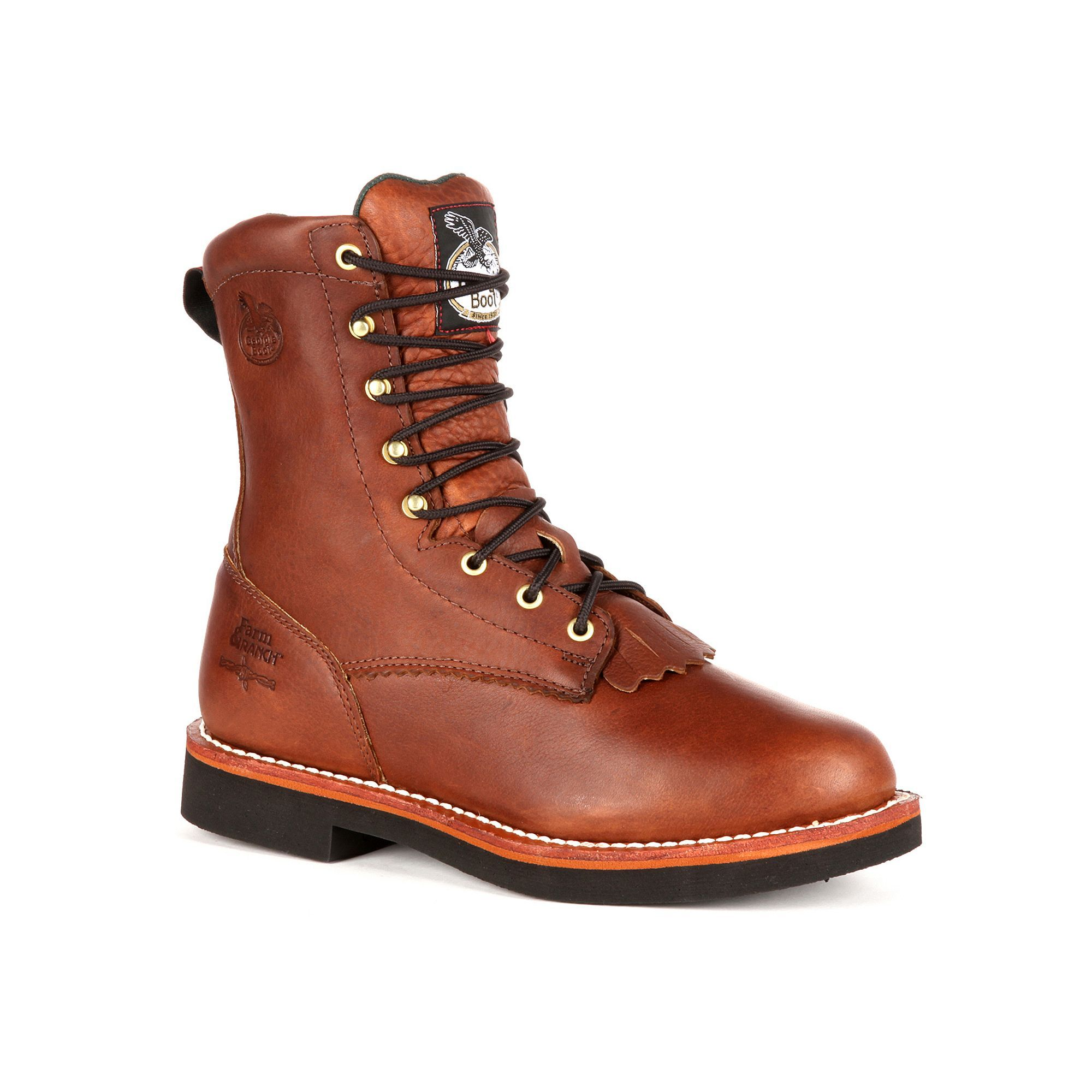 10 W US Georgia Boot Mens Homeland 8 Inch Steel Toe Work Shoe Brown