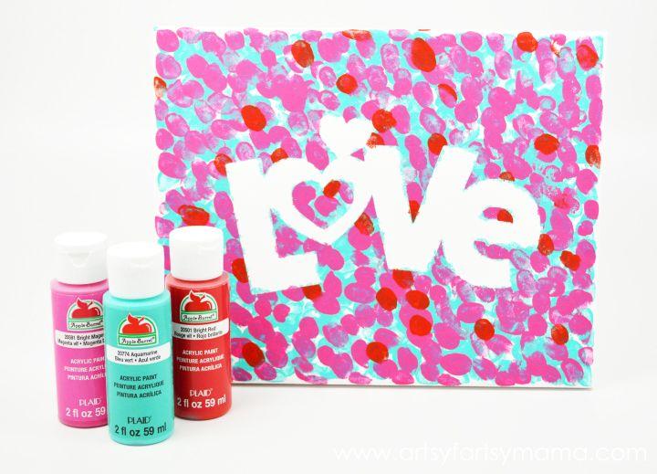 Valentines Fingerprint Canvas   Project ideas, Craft and Valentine ...