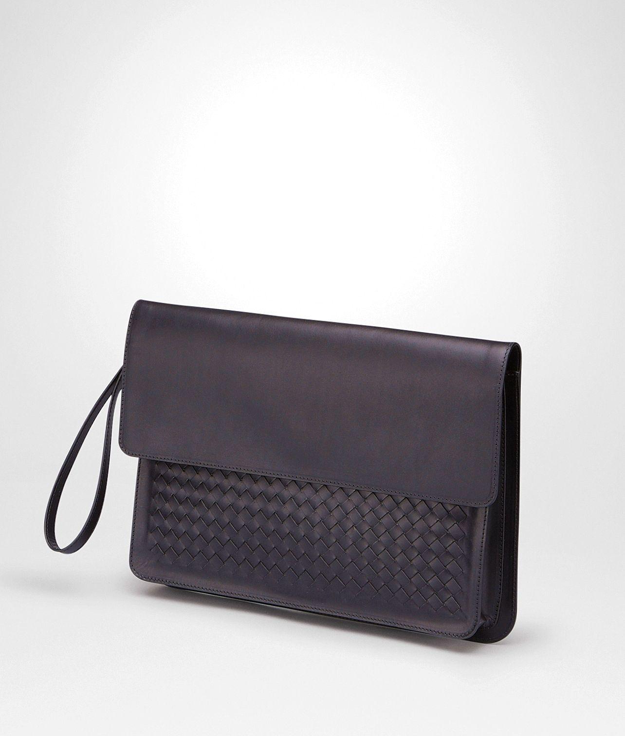 Nero Intrecciato Vachette Document Case - Men s Bottega Veneta Small Bag -  Shop at the Official 022802a53edf2