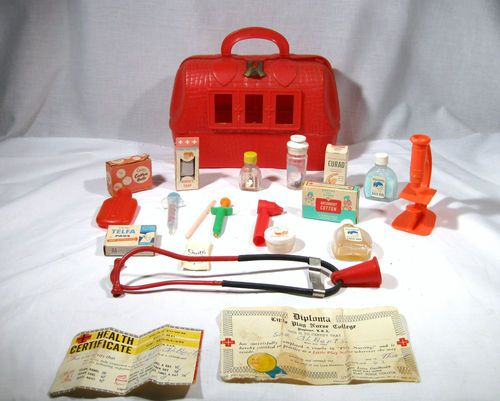Vintage 1960s Toy Nurses Kit Collectable Doctors I Had Oneok Maybe In The 70s Wasnt Quite Around 60s