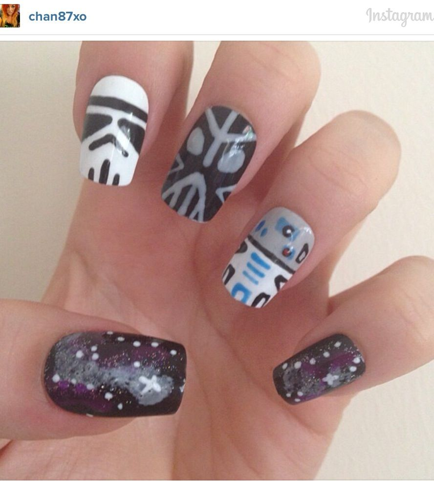 Star Wars - Darth Vader nail art | Nail Art | Pinterest | Vacation nails