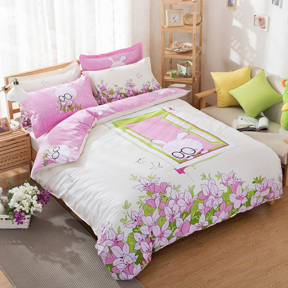 Design Bedding For Teens bedding for teens kids cartoon duvet cover set 100 cotton rabbit pattern sets floral