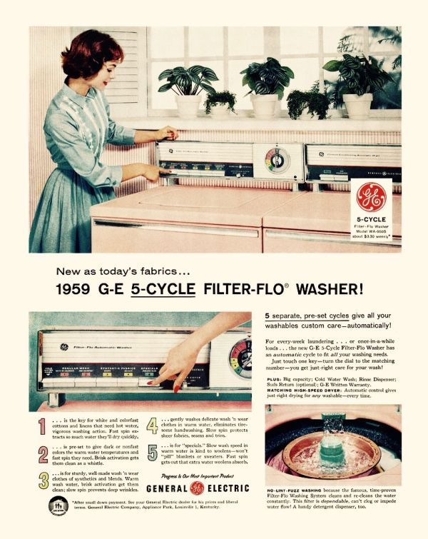 Retro appliances in cool colors | Old Advertising | Retro