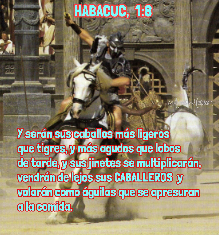ARACELI MALPICA- Posters : HABACUC, 1:8 Y serán sus caballos más ...