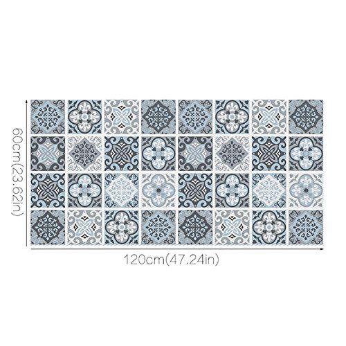 Rameng 3d Realiste Amovible Sticker De Plancher Muraux Autocollants Decoration Pour Maison Chambre Cuisine Autocollant Adhesif Decoratif Stickers Carrelage