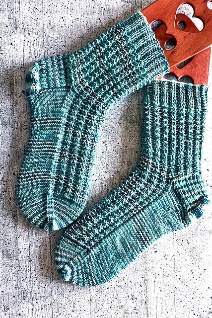 Socken mit Struktur