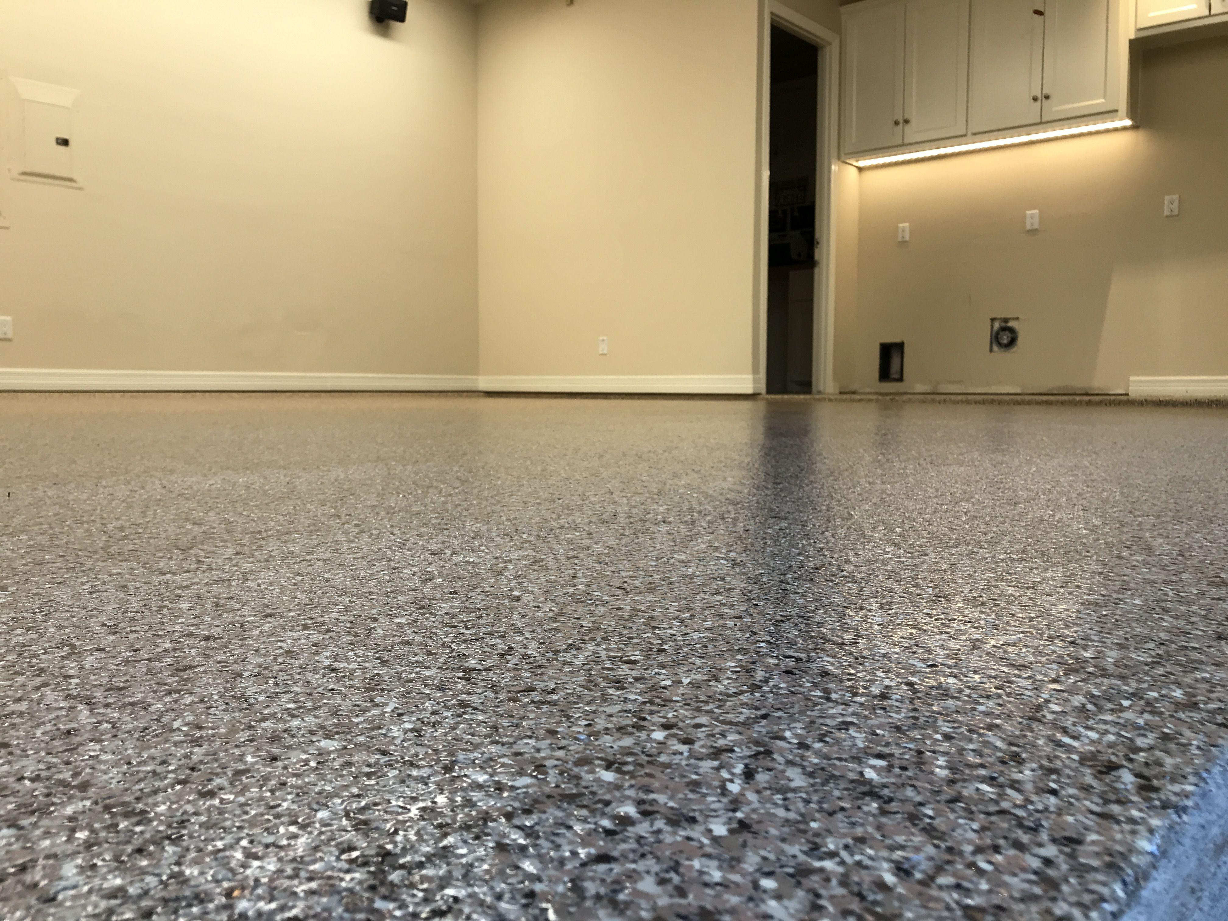 Classic Oak Finished In Dallas Texas Polyaspartic Garagefloors Customfloor Customgarage Coating Floorpaint Flooring Contractor Custom Floor Flooring