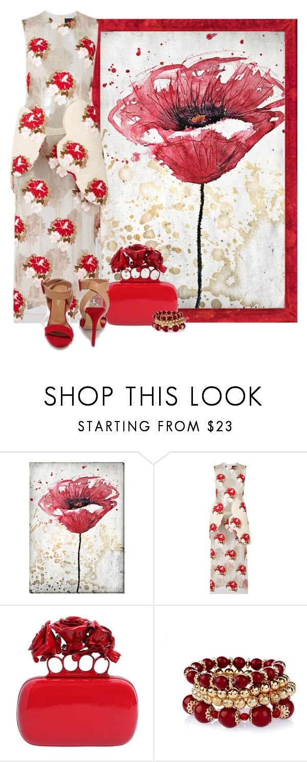 """""""tapestry, simone rocha"""" by concettodimoda ❤ liked on Polyvore featuring Universal Lighting and Decor, Simone Rocha and Alexander McQueen"""