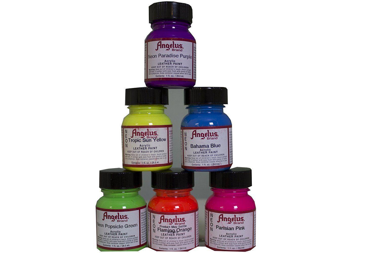 Angelus acrylic neon leathervinyl paint wapp starter
