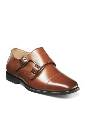 6005a07d60 Florsheim Boys  Reveal Double Monk Dress Shoe Boys Toddler Youth - Cognac -  11.5 Medium