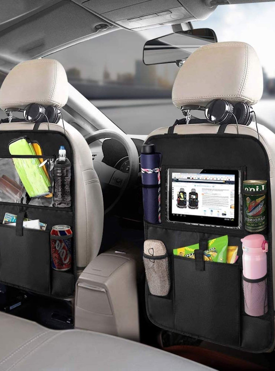 11 Genius Car Organizers That Ll Keep Your Family Sane For Road Trips And School Commutes In 2020 Car Seat Organizer Cars Organization Road Trip