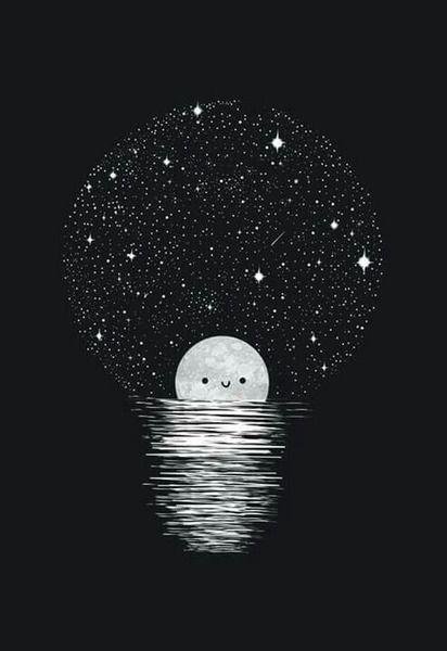 Moon Tumblr Art Kawaii Wallpaper Art Wallpaper