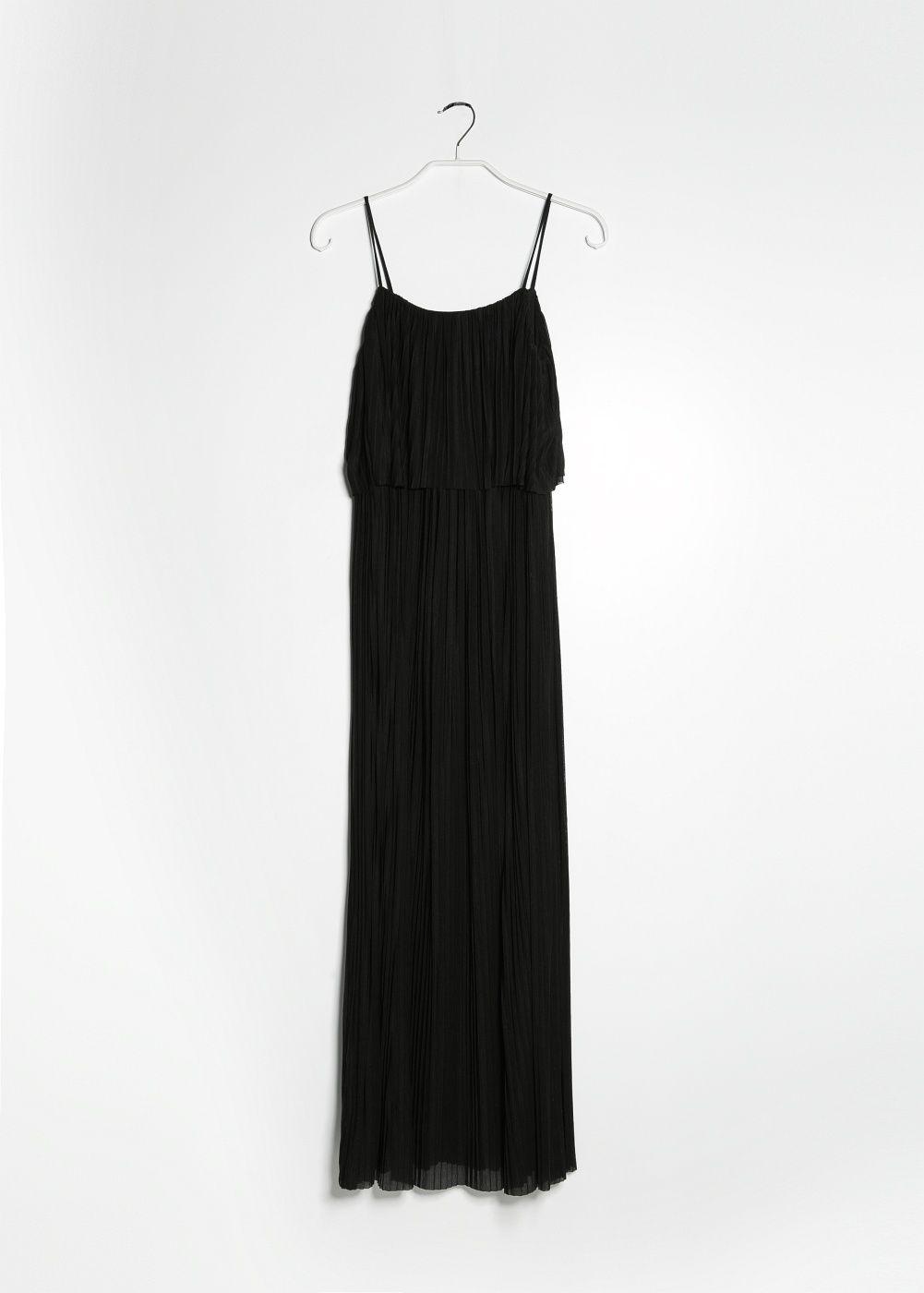 Langes, plissiertes kleid - Damen | Damen lange kleider ...