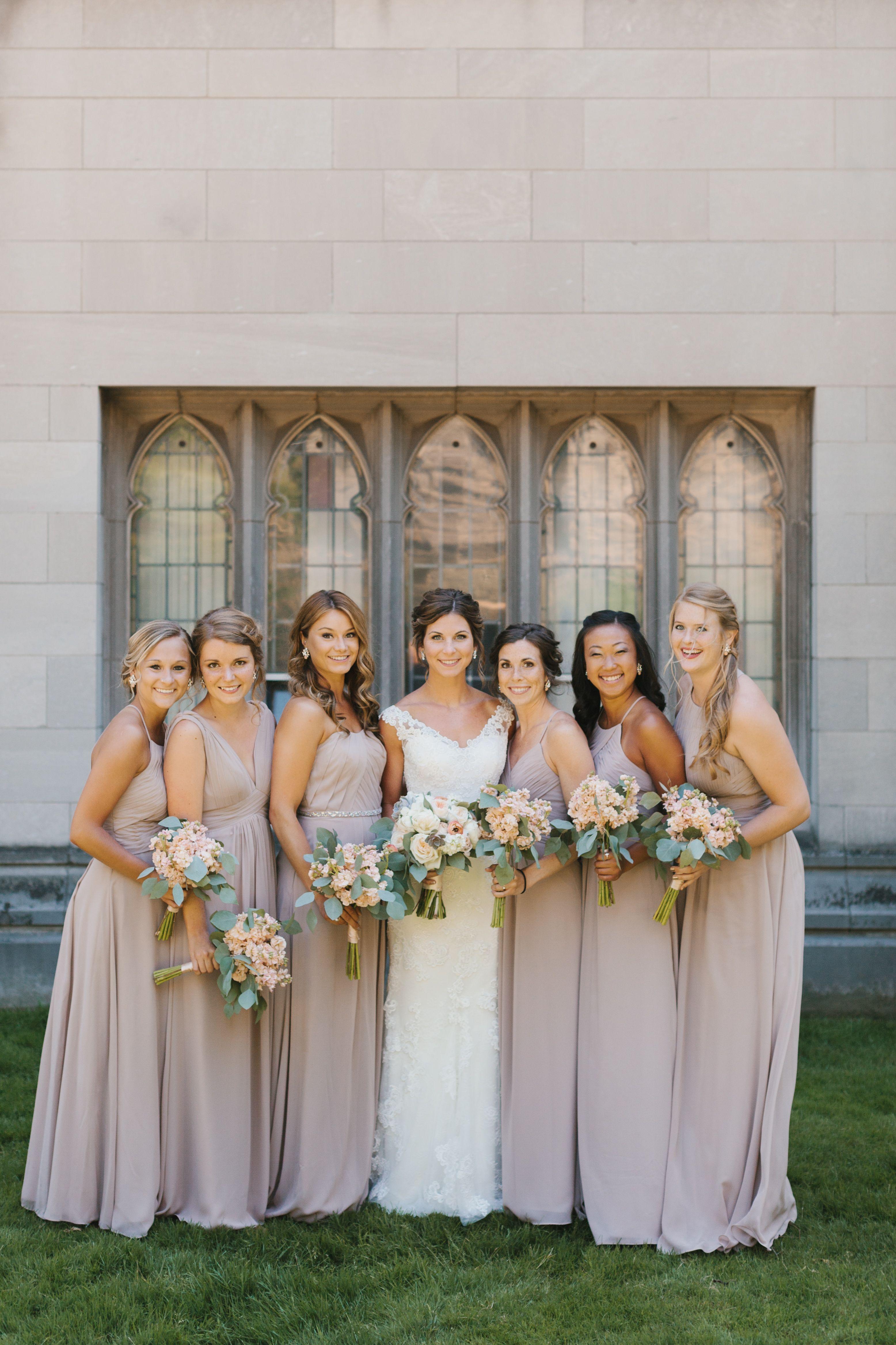 Casablanca bridal bridesmaids inspiration when hosting a