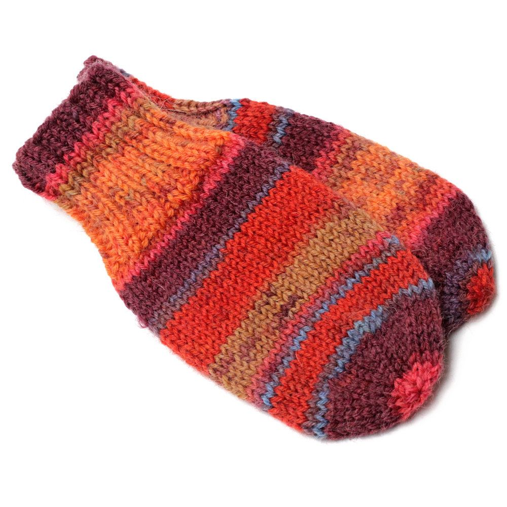 Orange Baby Mittens. No Thumb Baby Mitts. Infant Thumbless Hand ...