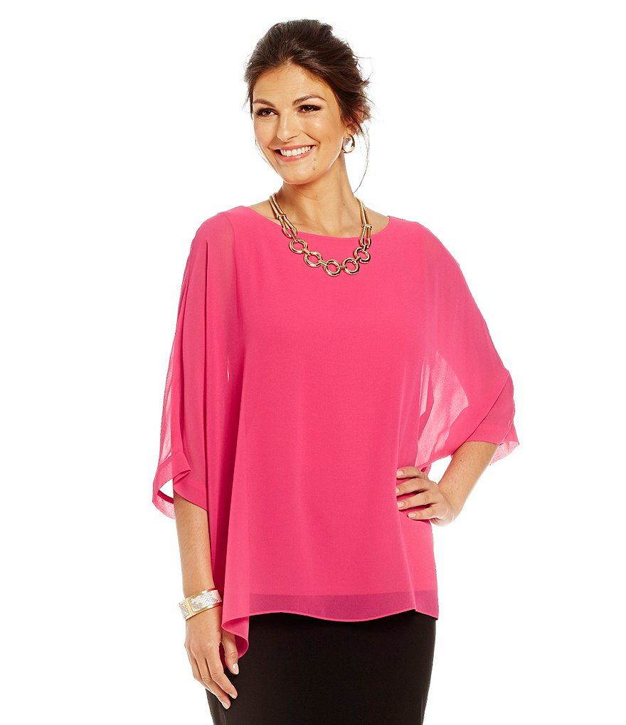 Dressy Tops For Wedding Guests.Pink Chiffon Blouse Wedding Guest Style Office Chic Work