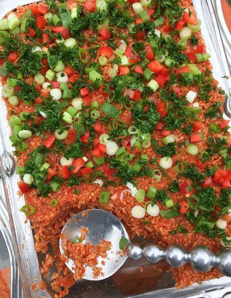 Eetch Armenian Armenian Food Bulgur Green Onion Parsley Food