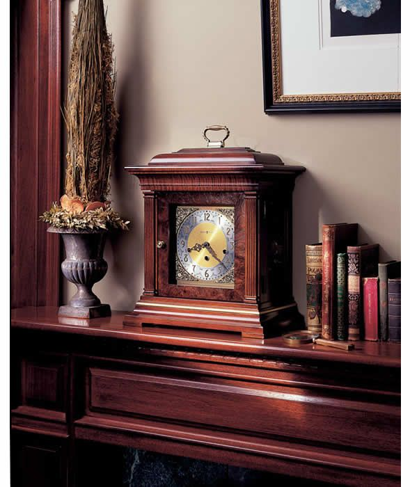 Howard Miller Key Wound Chiming Mantel Clock THOMAS TOMPION 612436