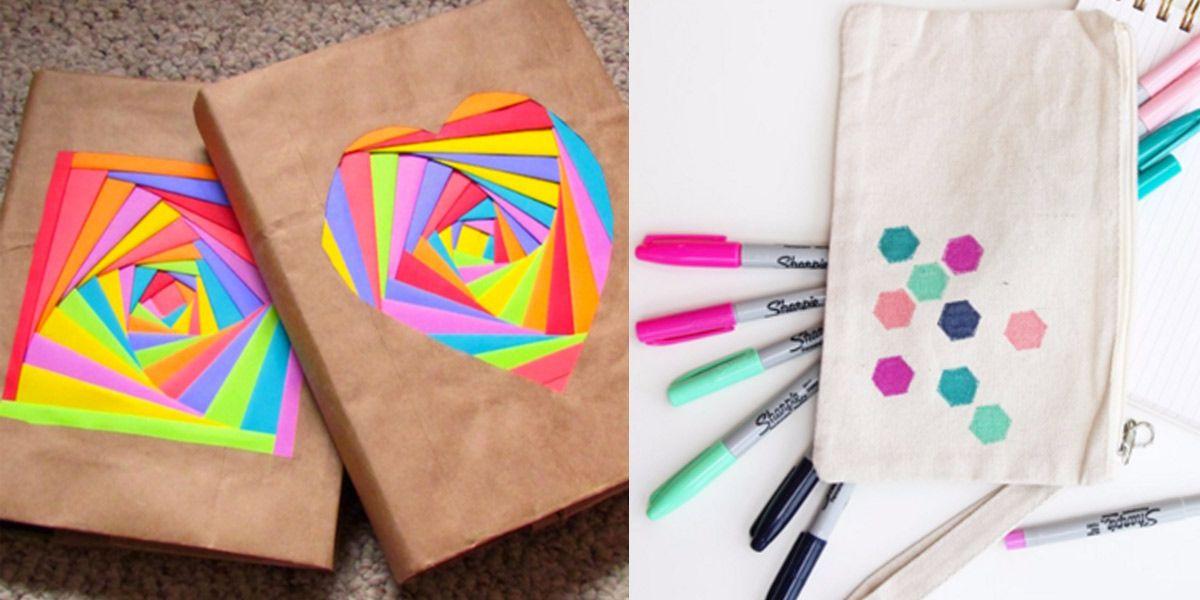 32 Diy Ideas For Back To School Supplies School Supplies Diy