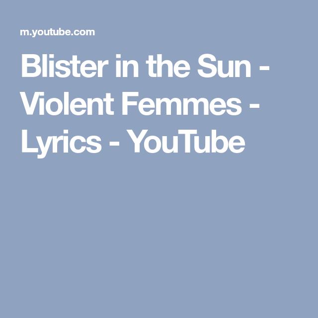 violent femmes youtube