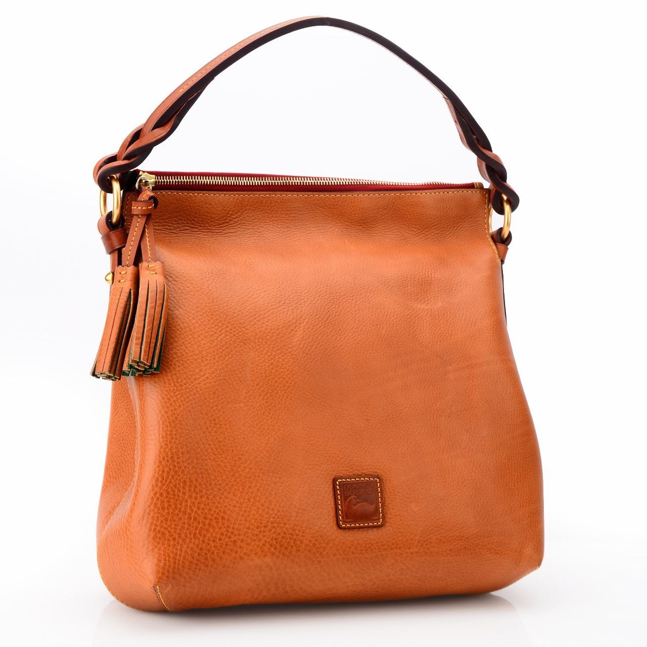 You adore smart, classic accessories that never go out of style--which is why you'll treasure this Florentine leather hobo bag. For just a smidgen of sass, a twisted shoulder strap offsets the sleek body.