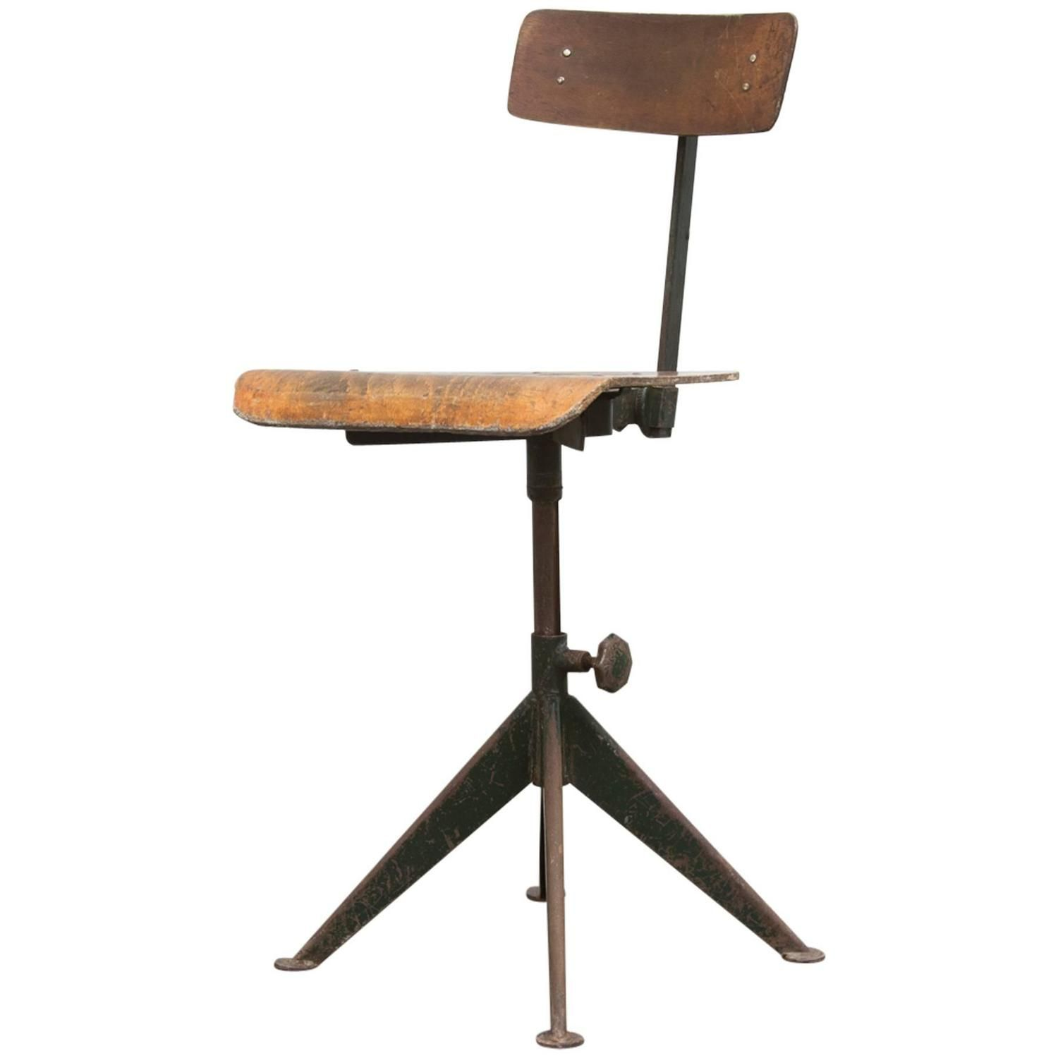 Jean Prouve Industrial Drafting Chair | From A Unique Collection Of Antique  And Modern Chairs At Https://www.1stdibs.com/furniture/seating/chairs/