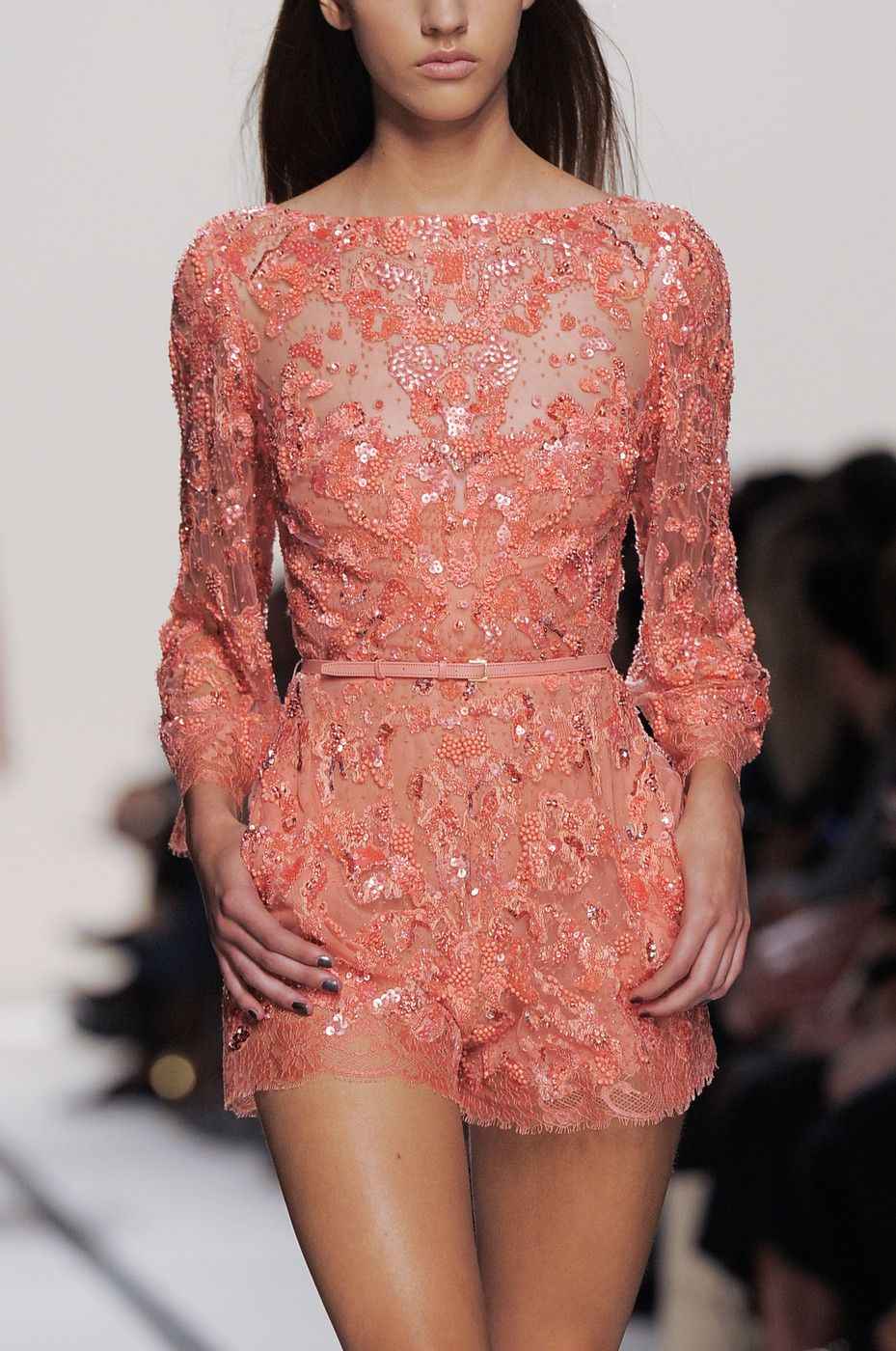 Elie Saab at Paris Fashion Week Spring 2014 | Alta costura, Vestidos ...