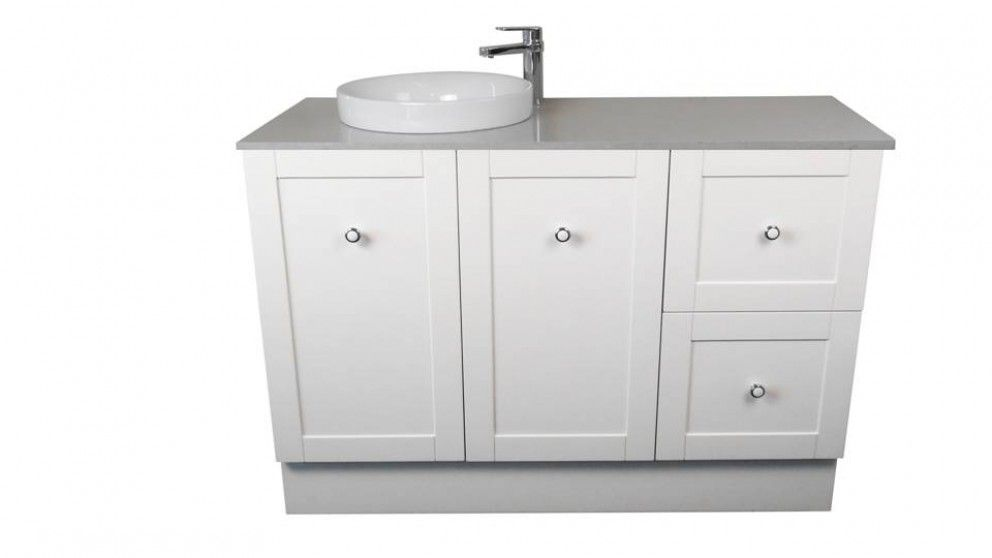 Ledin Hoxton 1200mm Stone Benchtop Vanity White Bathroom