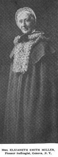 Photo of Libby Miller (activista de Inglaterra1851) inventora de los pantalones flojos