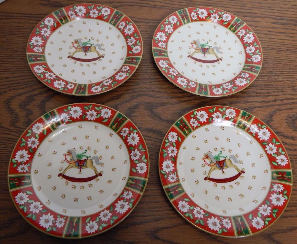 Discontinued Kobe Charlton Hall Rocking Horse Dessert Plate Set Of 4 Nib Ebay Plate Sets Plates Dessert Plate