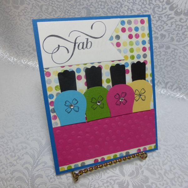 Punch Art Polish By Dianne Sisneros Cards Girls Pinterest