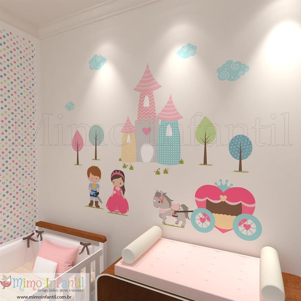 Adesivos Para Quarto De Beb Castelo Da Princesa Coroas Coroa  ~ Como Fazer Quadros Decorativos Para Quarto De Bebe