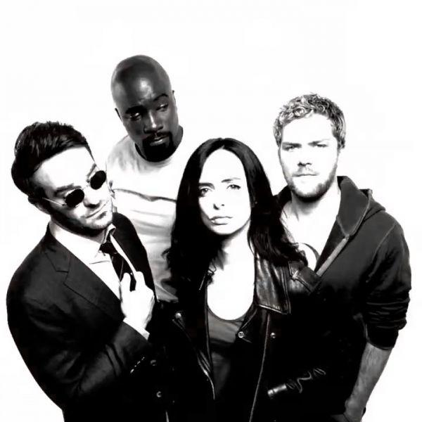 I Love How Edgy This Photo Shoot Makes Them Look Defenders Marvel Marvel Netflix Galaxy Comics
