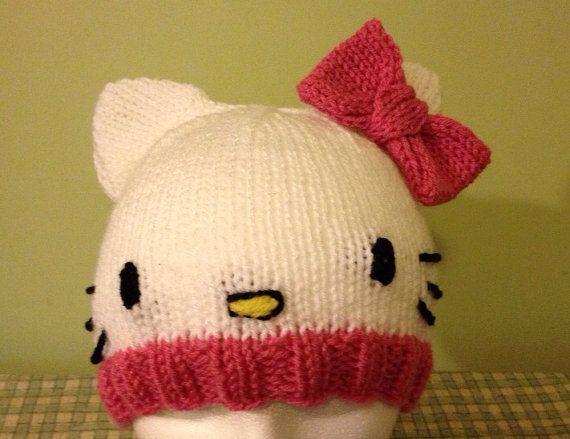 Hello Kitty Knit Hat PATTERN by SmileyHeadSplendor on Etsy ...