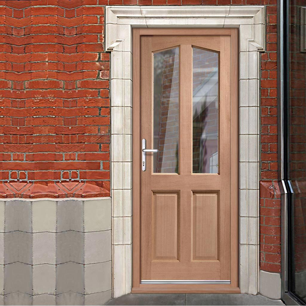 Richmond Hardwood Door Fitted with Toughened Double Glazing. #frontdoor #externaldoor #exteriordoor & Richmond Hardwood Door Fitted with Toughened Double Glazing | Doors ...