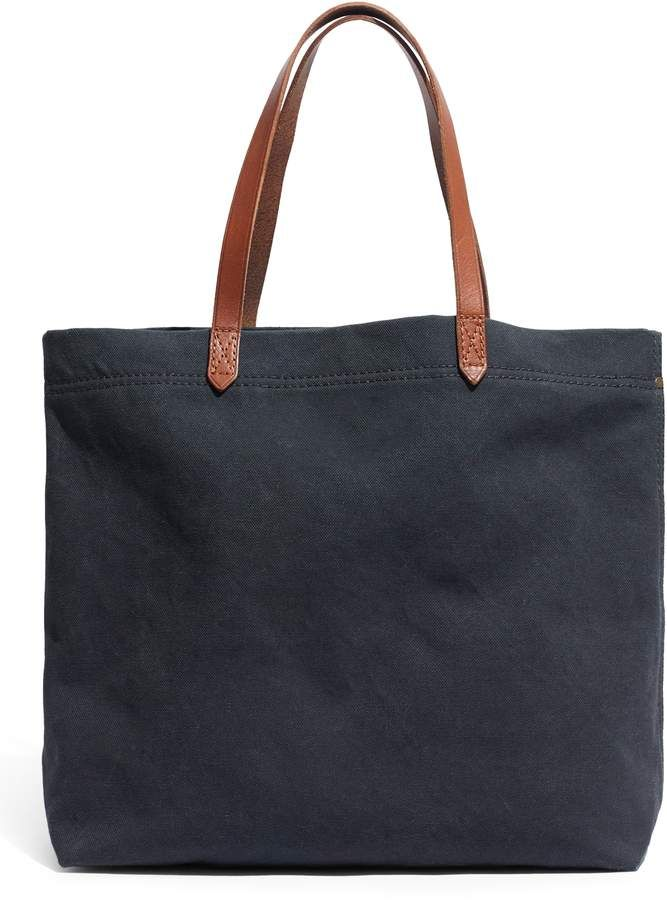 8e327b0f8 Madewell Canvas Transport Tote - Green in 2019 | Products | Madewell ...