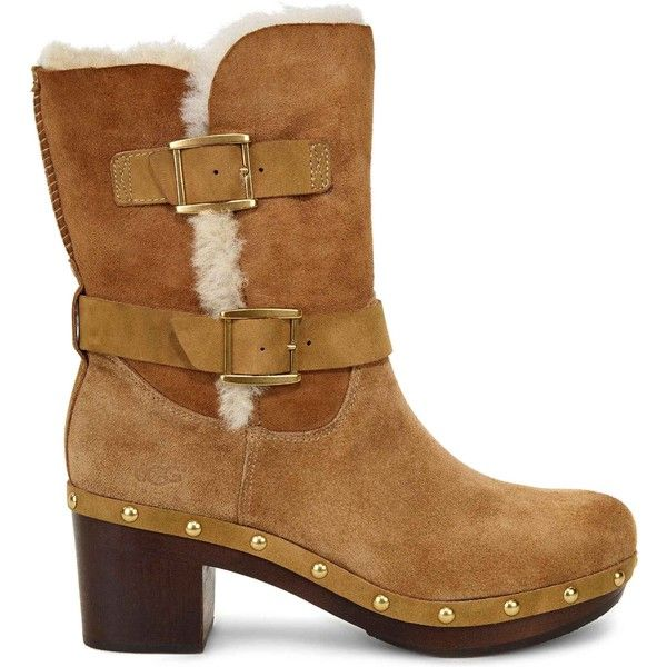 58722210820 UGG Women's Brea Chestnut Motorcycle Boots ($240) ❤ liked on ...