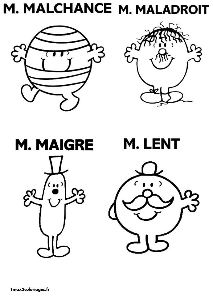 Coloriages monsieur madame de Roger Hargreaves - M.Malchance M | Z | Pinterest | Core french ...