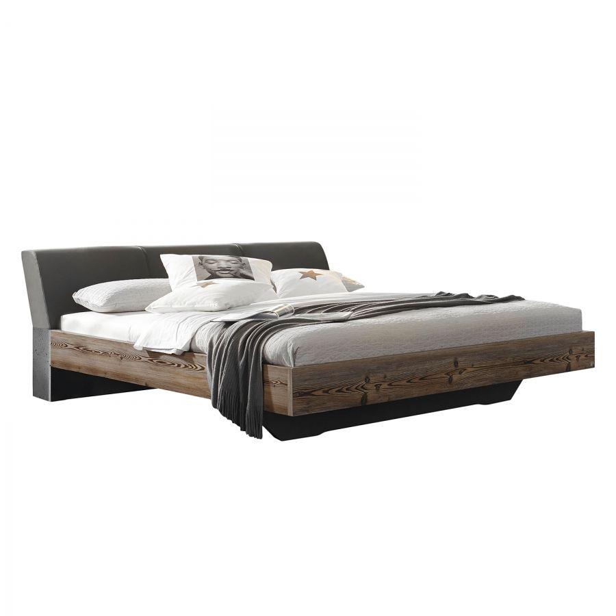 Japanisches futonbett  Lit Streetway - Imitation mélèze / Cuir synthétique basalten 399 ...