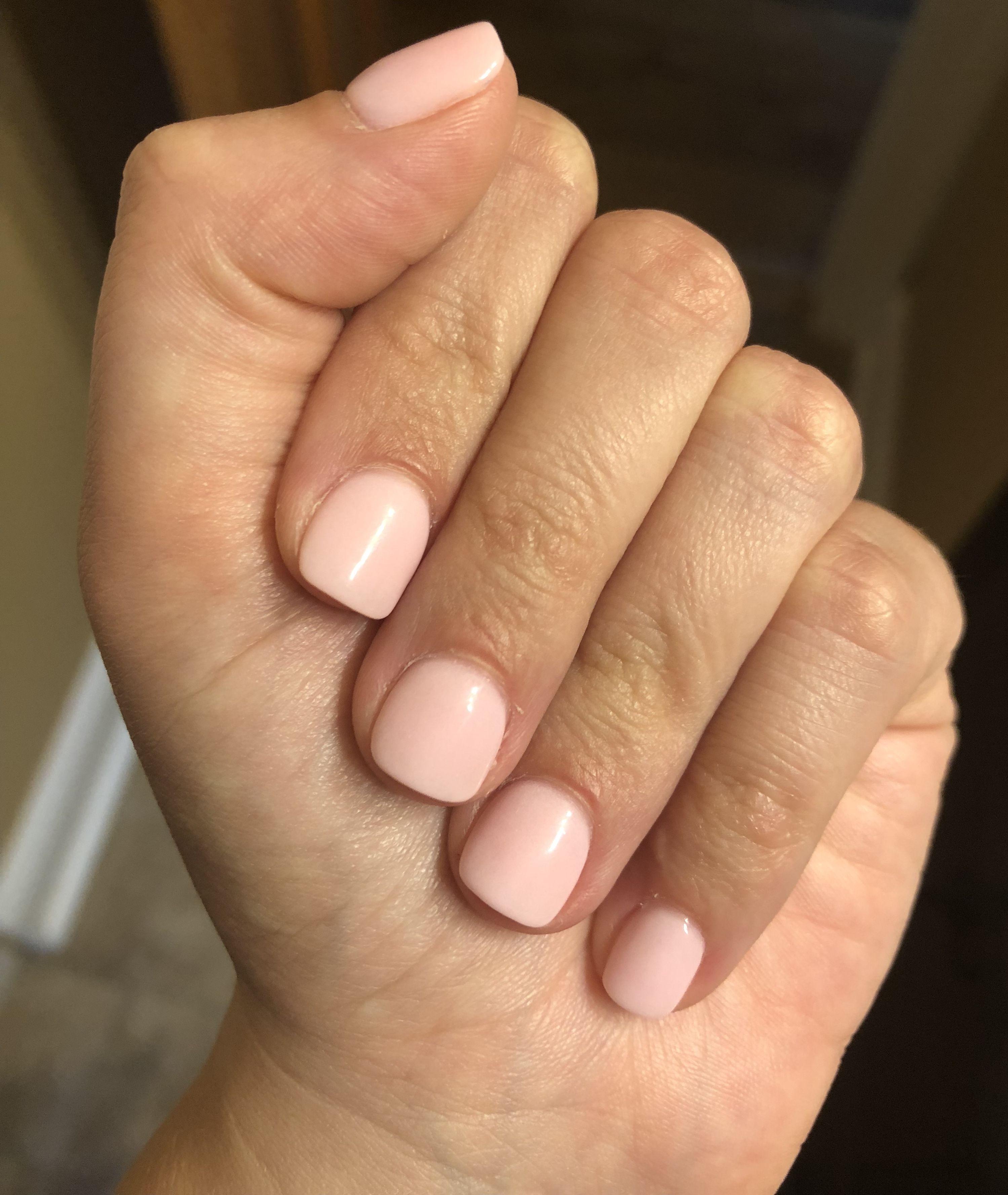 Sns Dip Powder Perfect Pink Color Dipped Nails Sns Dip Nails Natural Nails