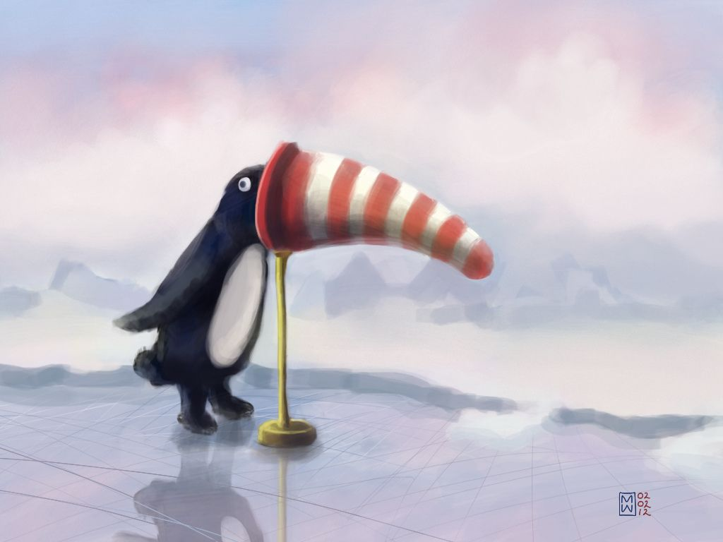 """Willy And The Wind Sock"" #iPadArt by Matthew Watkins"