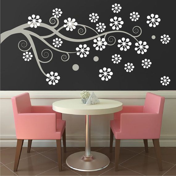 Decals Design Flowers Branch Wall Sticker