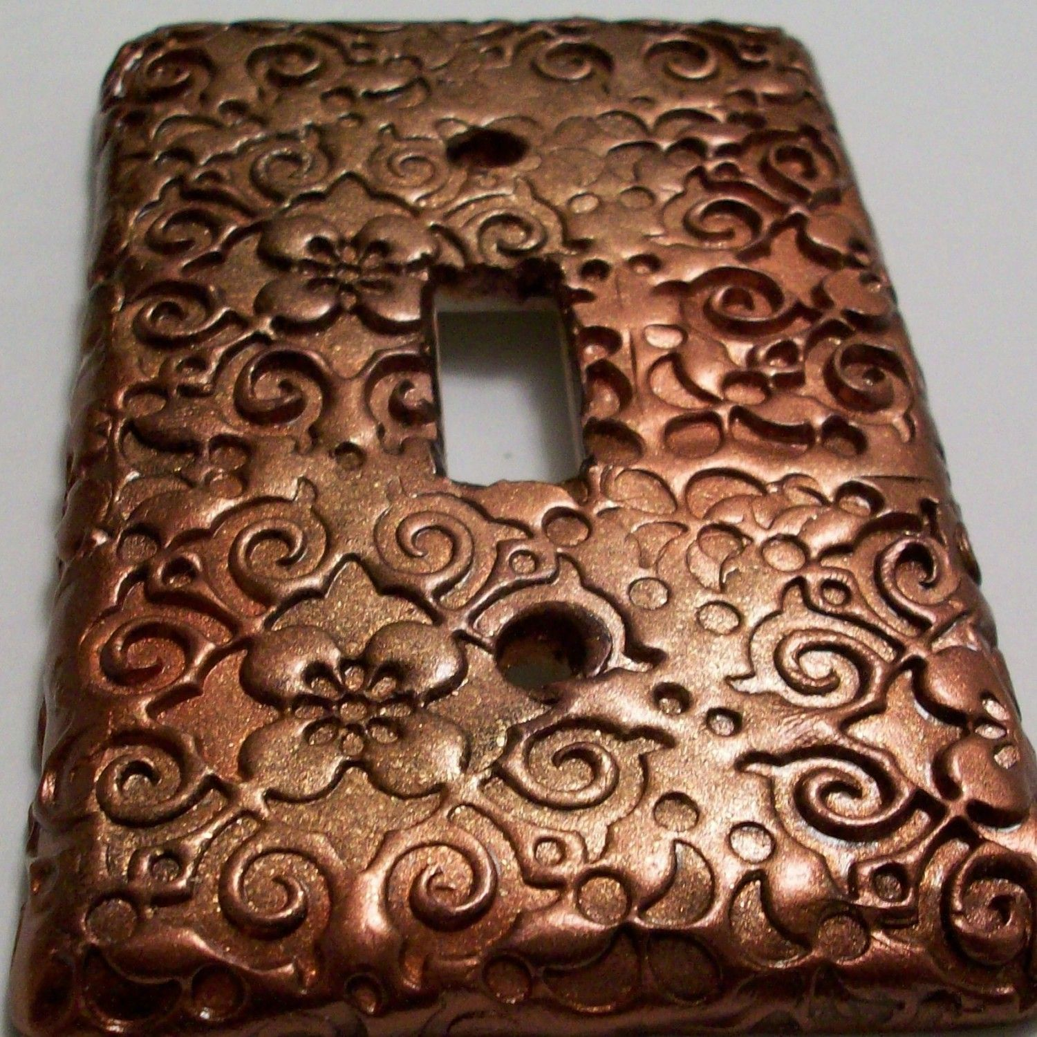Swirls And Flowers Copper Light Switch Cover By Peggers On Etsy 7 95