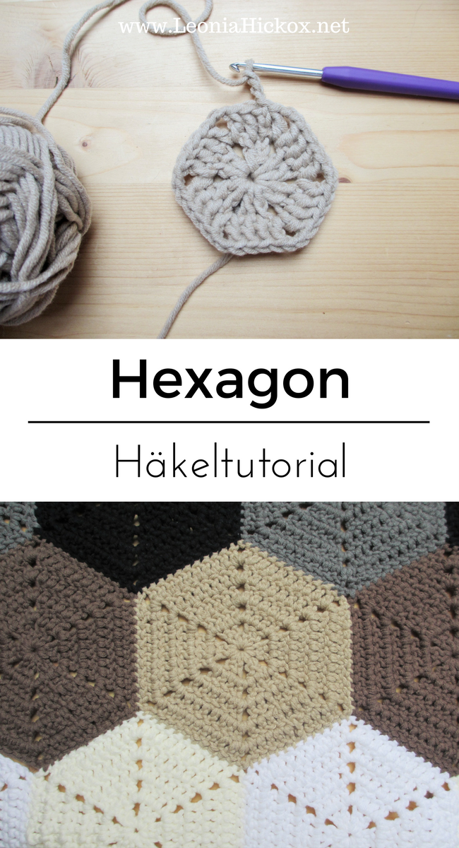 Häkeltutorial Für Ein Hexagon Häkeln Häkelmuster Häkelanleitung