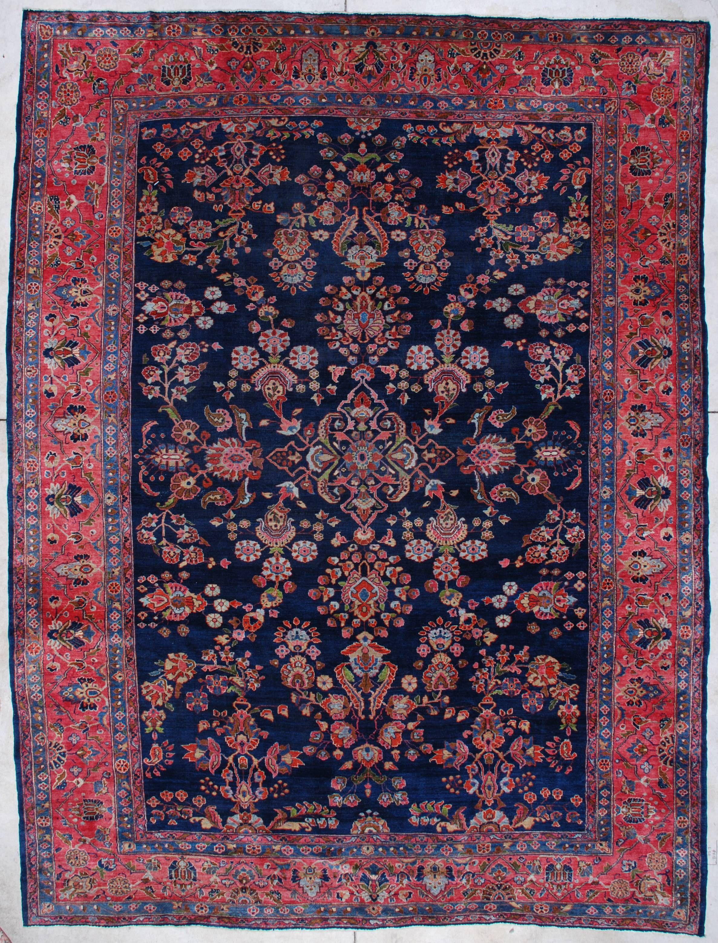 7050 Mahajaran Sarouk Antique Persian Rug 9 1 X 11 10 Persian Rug Rugs Oriental Rug