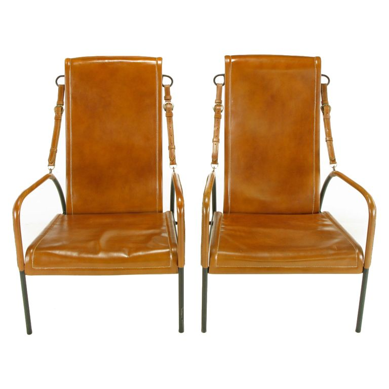 high back lounge chair leather