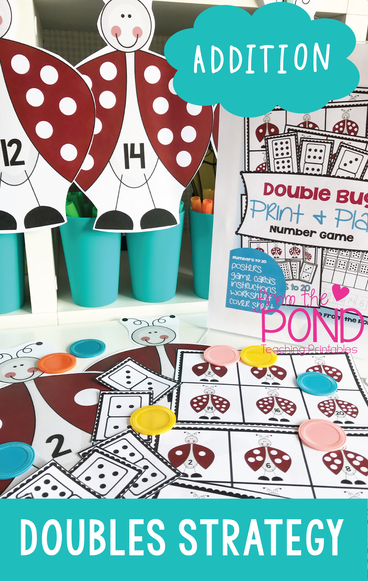 Doubles Facts to 20 - Double Bug Addition Strategy Pack | Doubles ...