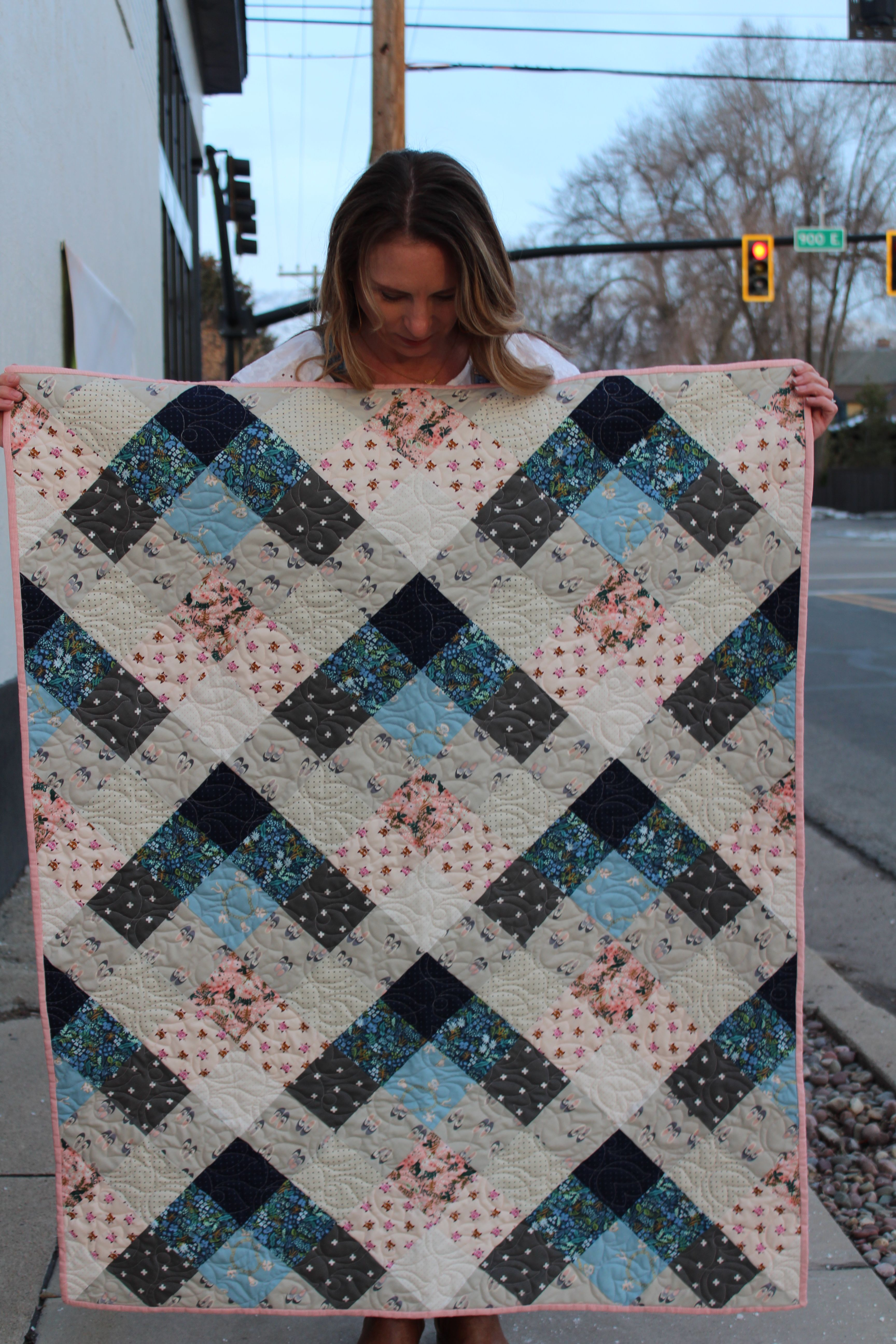 A Modern Baby Girl Quilt, see more and visit picklesandpeonies blog