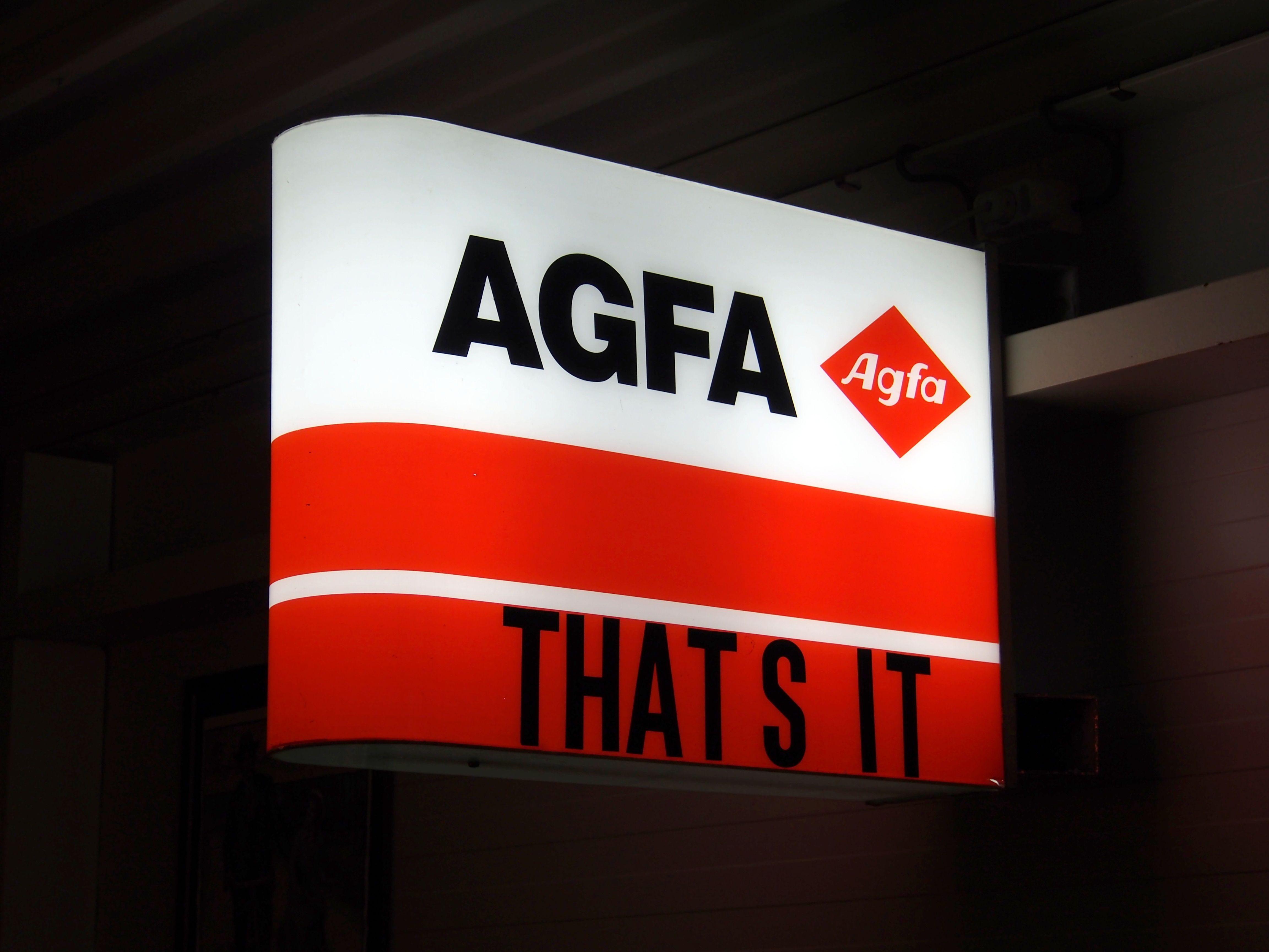 Agfa Advertising Sign Werbung