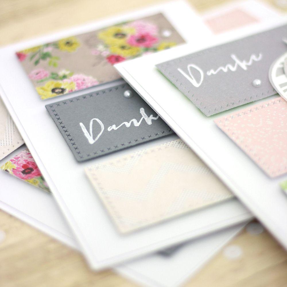 Danke sagen - schnelle Karten basteln mit Transparentpapier   Stanzen mit der Big Shot   piecesforhappiness.de